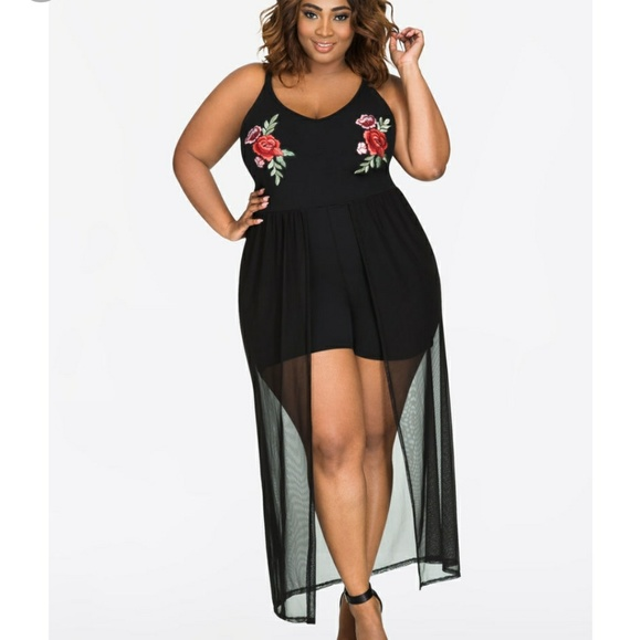 Ashley Stewart Romper Maxi plus size 30 32 (5x)